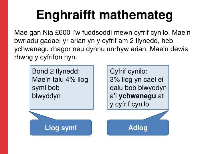 Enghraifft mathemateg