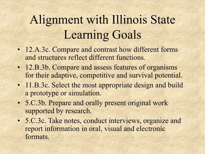 Alignment with Illinois State Learning Goals