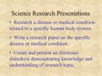 science research presentations