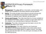aicpa cica privacy framework criteria 1 5