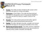 aicpa cica privacy framework criteria 6 10