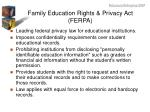 family education rights privacy act ferpa