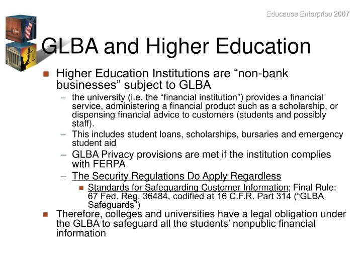 GLBA and Higher Education
