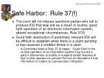 safe harbor rule 37 f