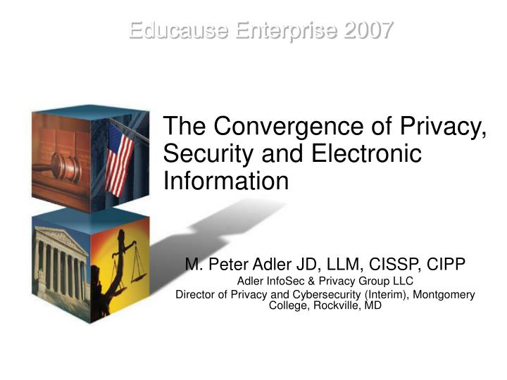 The convergence of privacy security and electronic information