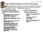 the federal rules of civil procedure
