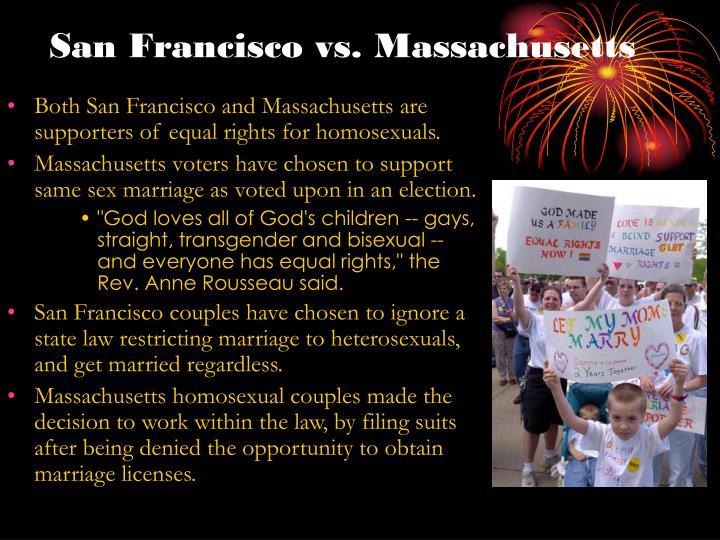 San Francisco vs. Massachusetts