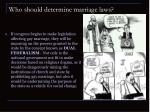 who should determine marriage laws