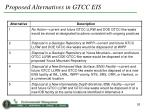 proposed alternatives in gtcc eis