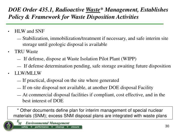 DOE Order 435.1, Radioactive