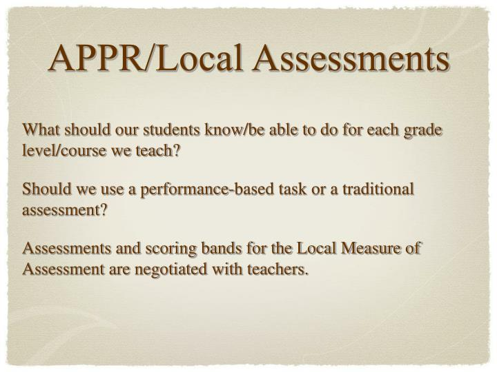 What should our students know/be able to do for each grade level/course we teach?