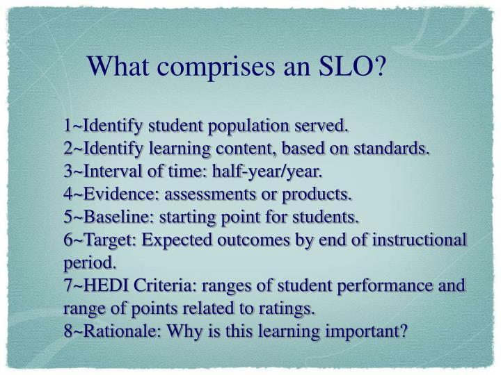 1~Identify student population served.