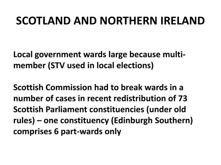 SCOTLAND AND NORTHERN IRELAND