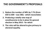 the government s proposals