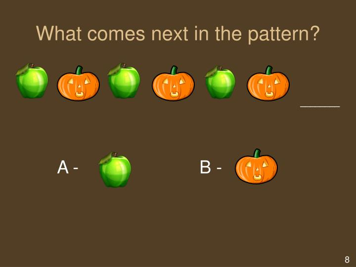 What comes next in the pattern?
