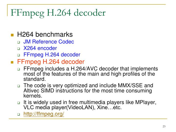 FFmpeg H.264 decoder