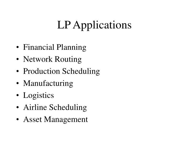 LP Applications