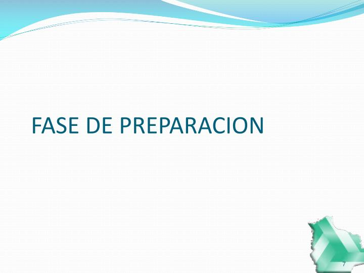 FASE DE PREPARACION