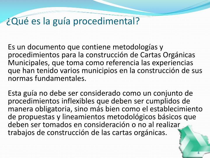 ¿Qué es la guía procedimental?