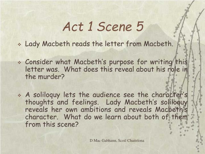 essay on macbeth act 1 scene 2 Scene ii a camp near forres / alarum within enter king duncan, malcolm, /  donalbain, lennox, with attendants, meeting a bleeding / captain / duncan.