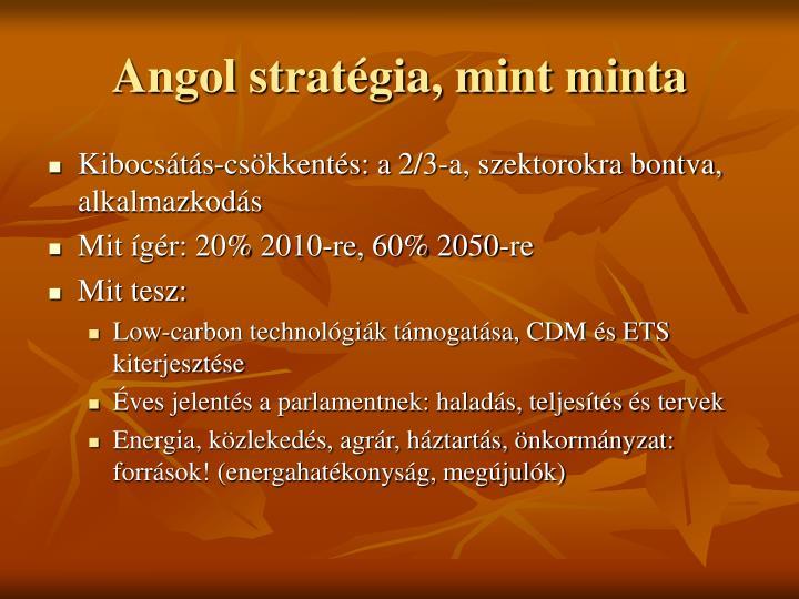 Angol stratégia, mint minta