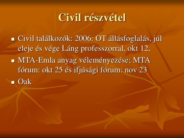 Civil részvétel