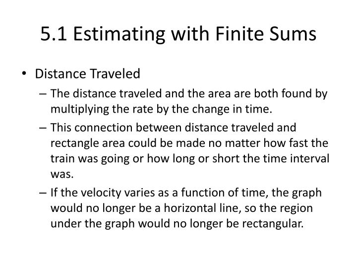 5 1 estimating with finite sums