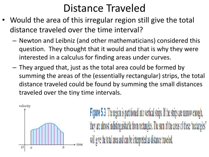 Distance traveled1