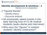 identity development emotions 1 pearson et al in preparation