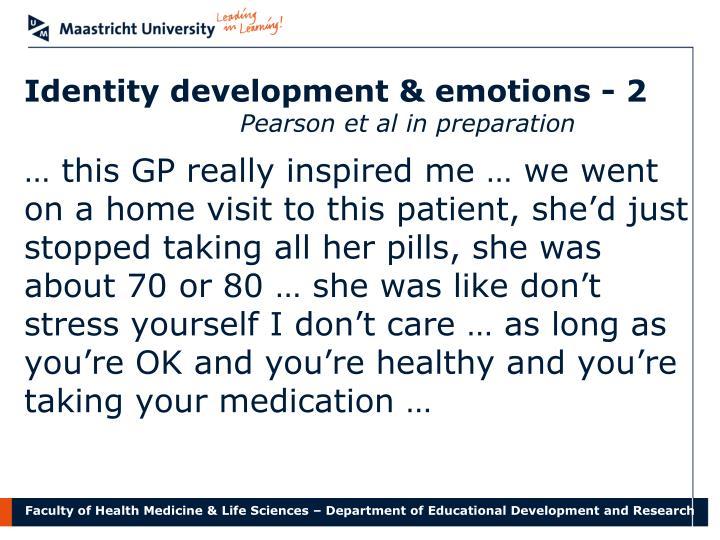 Identity development & emotions - 2