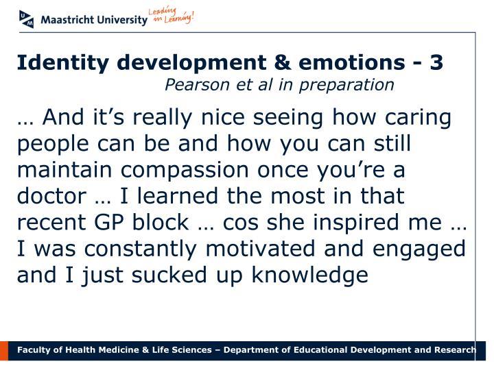 Identity development & emotions - 3