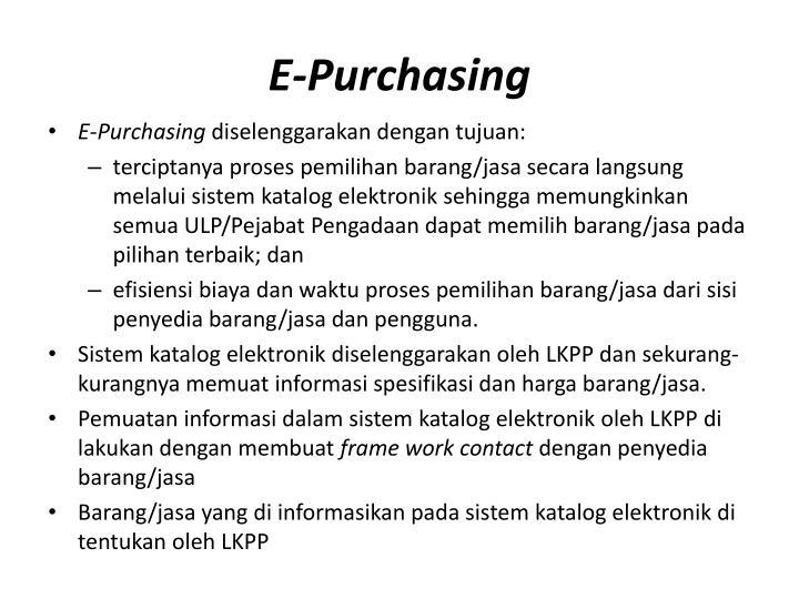 E-Purchasing