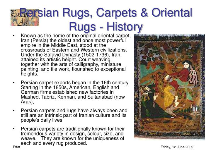 Persian Rugs, Carpets & Oriental Rugs - History