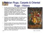 persian rugs carpets oriental rugs history