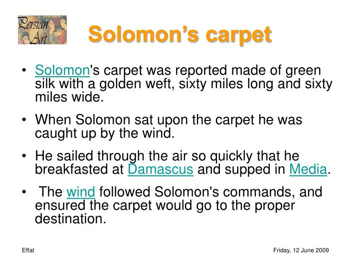 Solomon's carpet