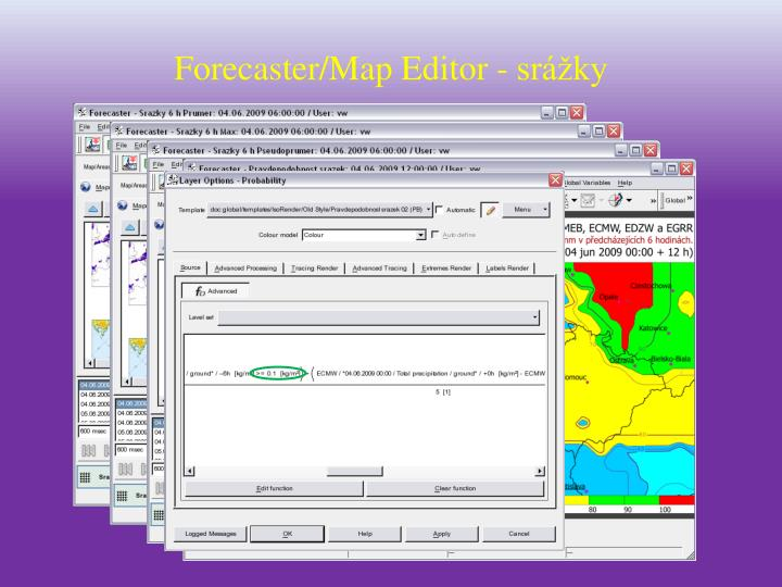 Forecaster/Map Editor - srážky