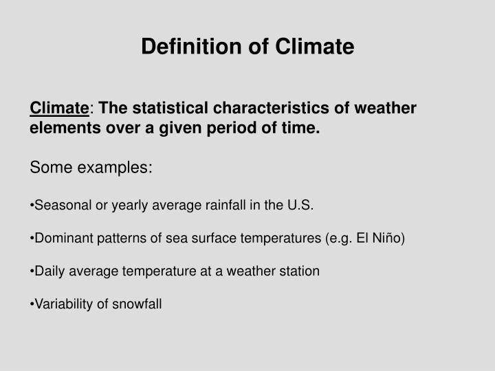 Definition of Climate