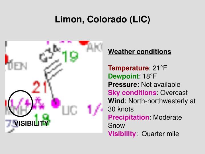 Limon, Colorado (LIC)