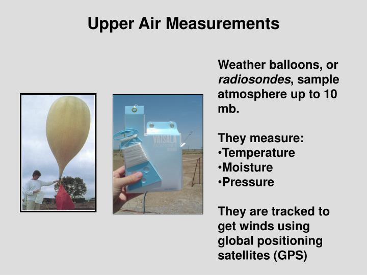 Upper Air Measurements