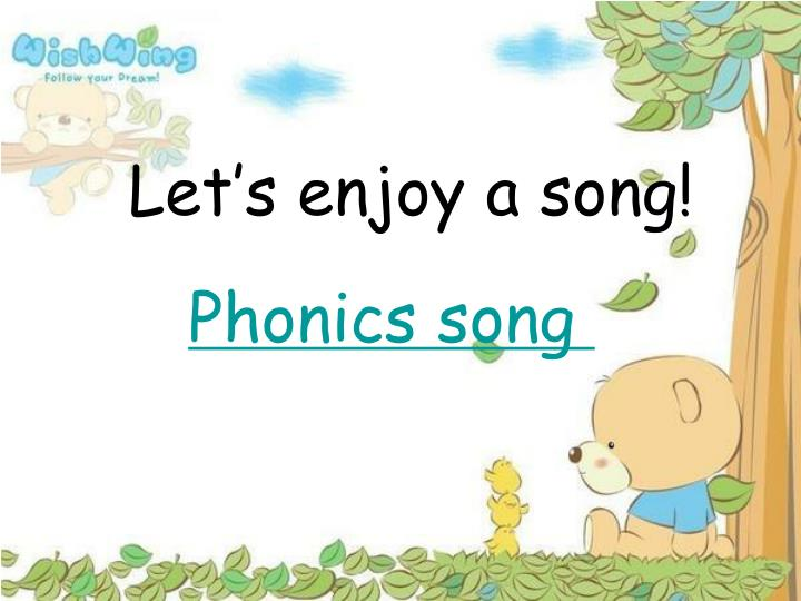Let's enjoy a song!
