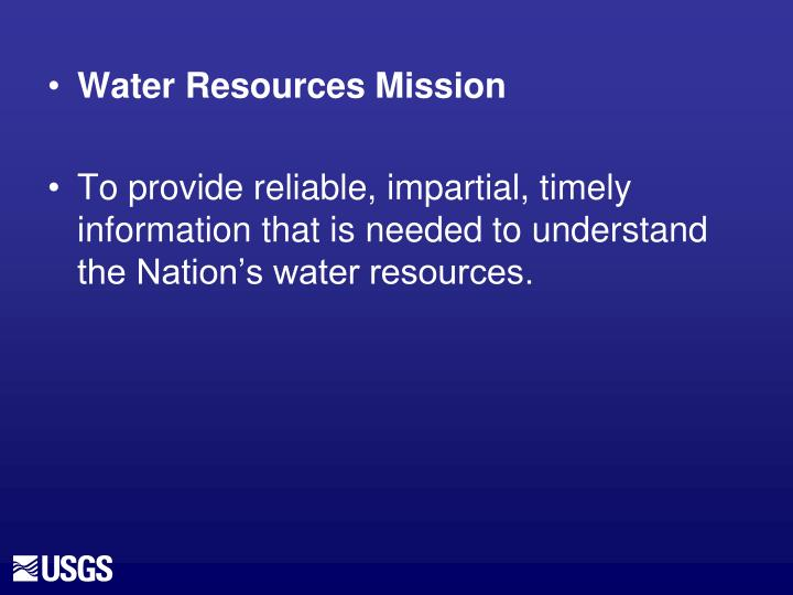 Water Resources Mission