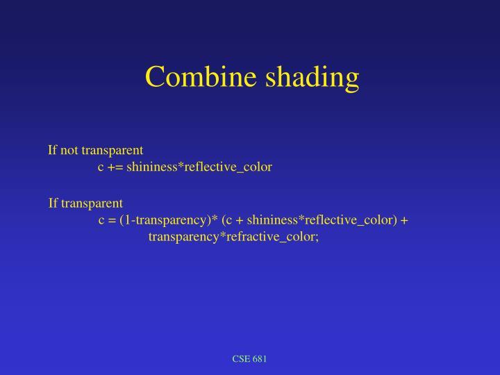 Combine shading