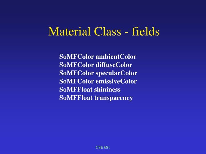 Material Class - fields