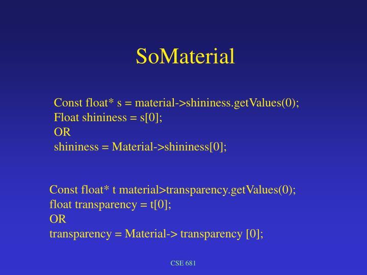 SoMaterial