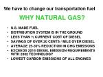 why natural gas
