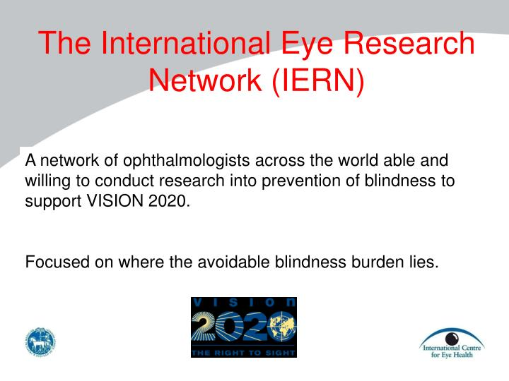 The International Eye Research Network (
