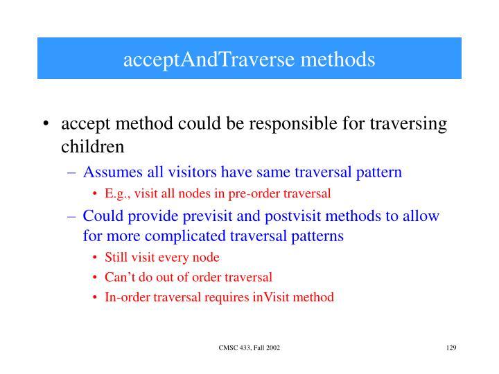 acceptAndTraverse methods