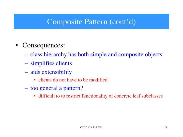 Composite Pattern (cont'd)