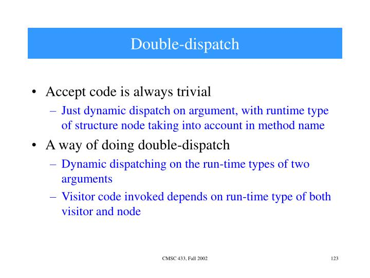 Double-dispatch