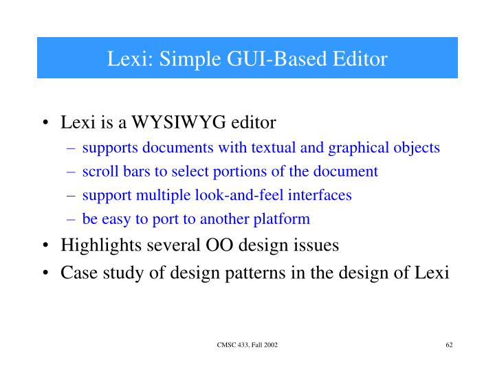 Lexi: Simple GUI-Based Editor